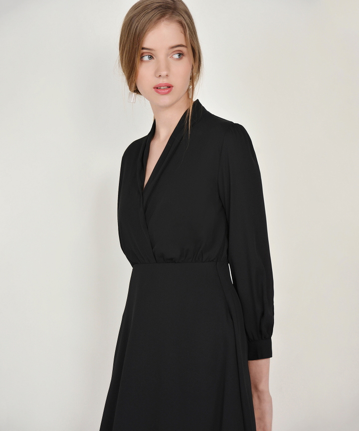 Tjin Overlay Dress - Black