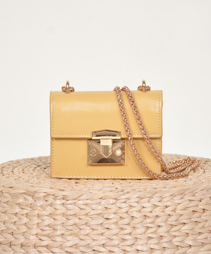 Lyon Shoulder Bag - Mustard
