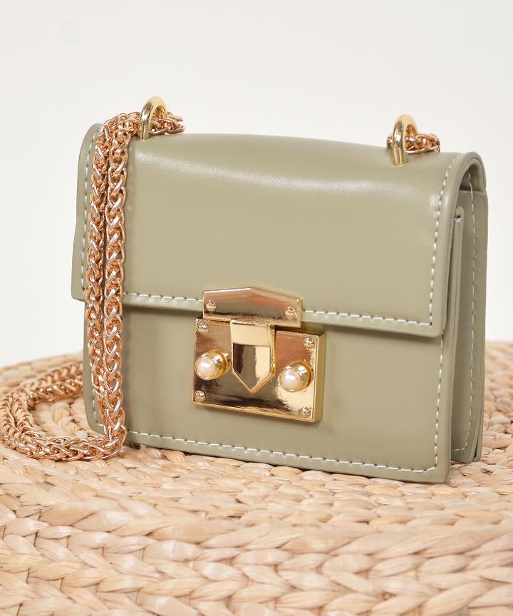 Lyon Shoulder Bag - Pale Olive