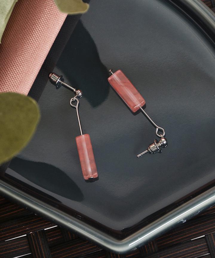 Cashel Cube Earrings - Pink