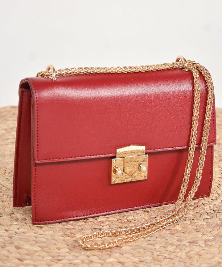Demi Crossbody Bag - Red