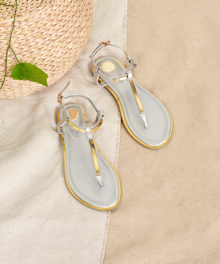 Mezzo Strap Sandals - Silver