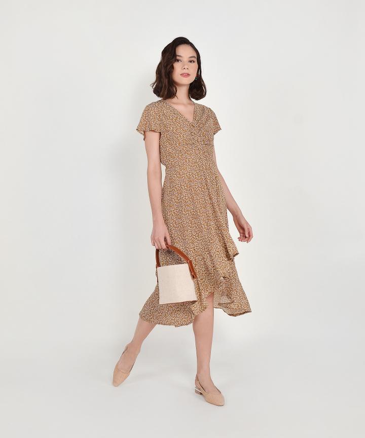 Kacey Floral Asymmetrical Dress - Sienna