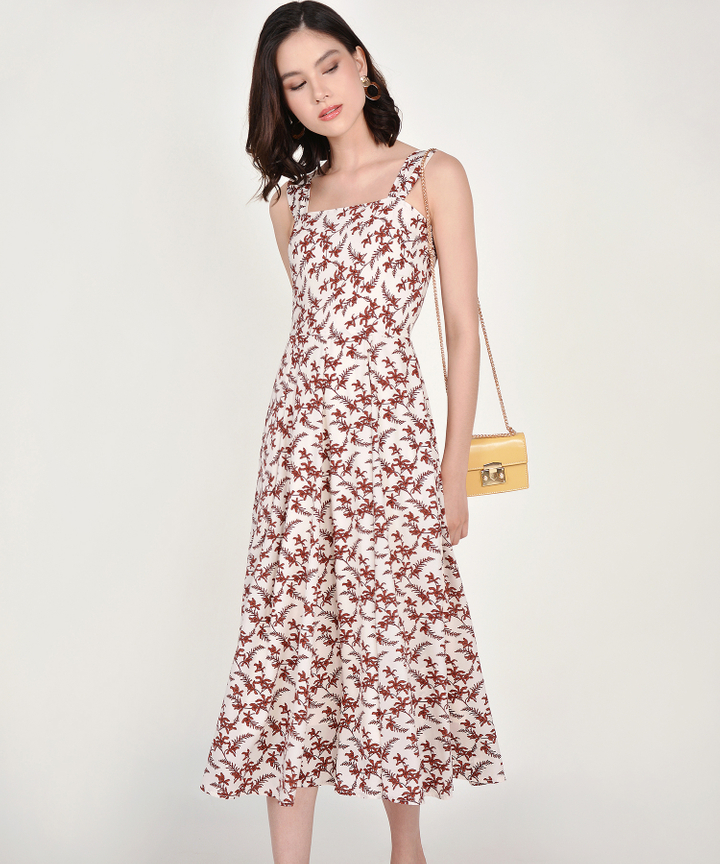 Filigree Floral Midi - White