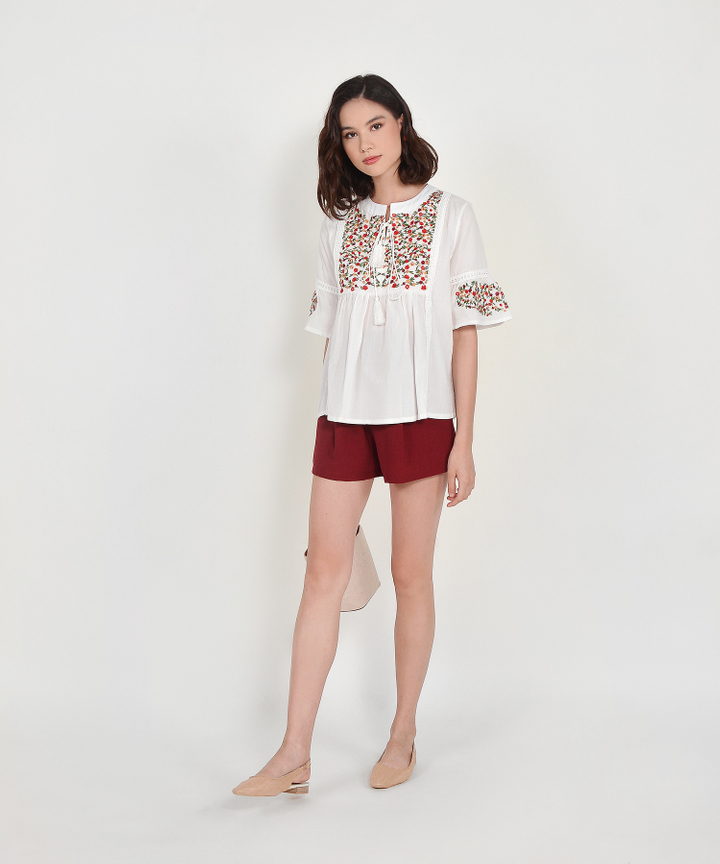 Sicily Embroidered Top