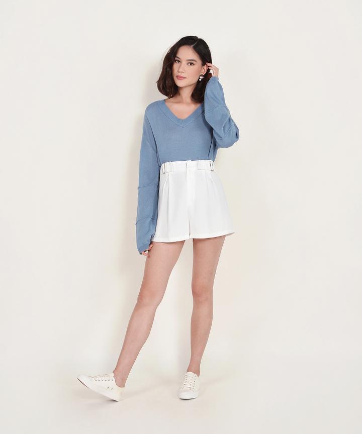 Ruth Long-sleeved Sweater - Dusk Blue