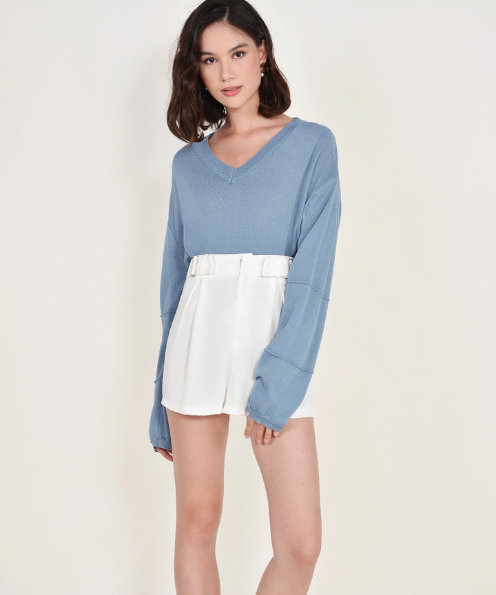 Ruth Long-sleeved Sweater - Dusk Blue