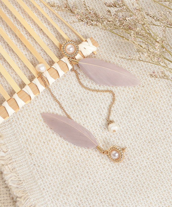 Ava Feather Earrings (Restock)