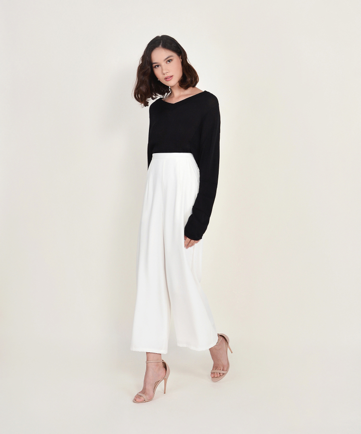 Ruth Long-sleeved Sweater - Black
