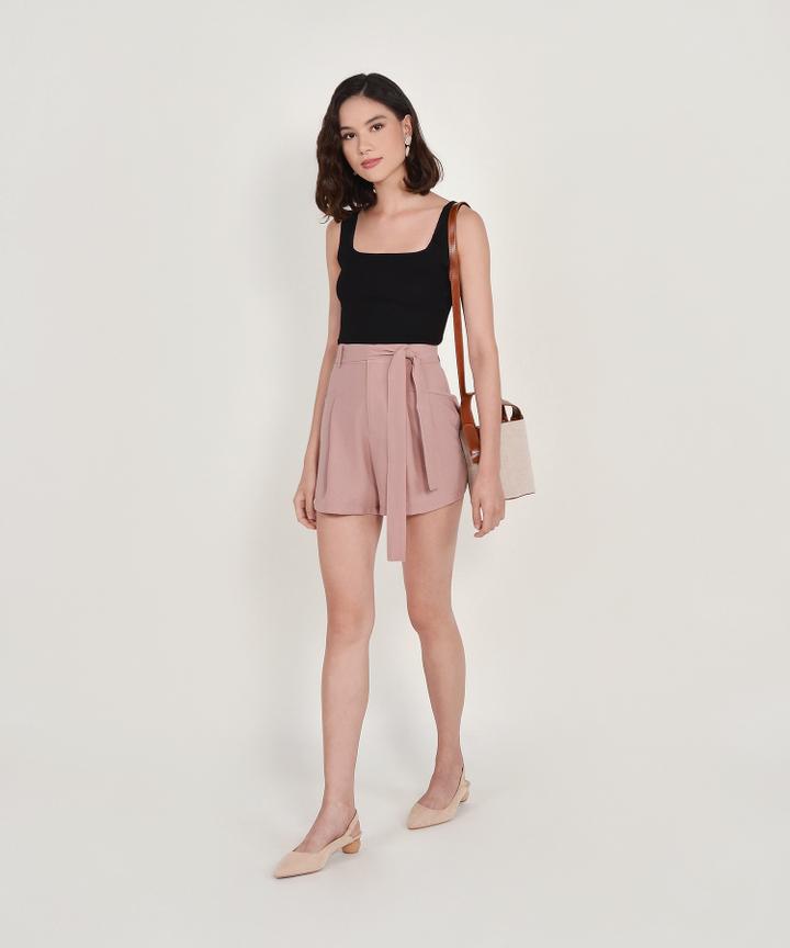Aimee Knit Tank - Black (Backorder)