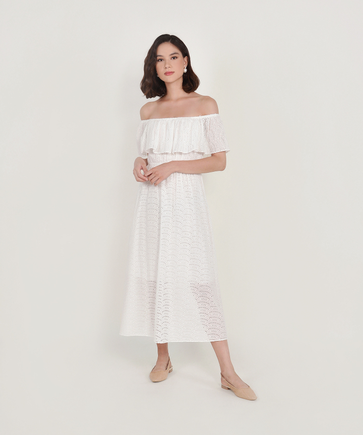 Galadriel Eyelet Off-Shoulder Maxi (Backorder)