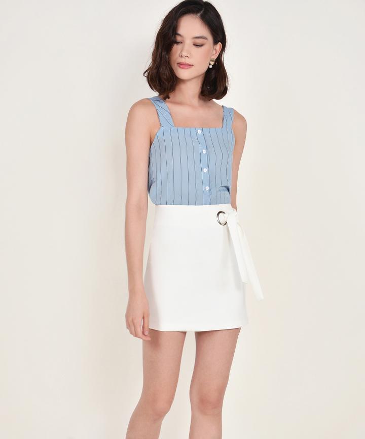 Elena Striped Top - Blue