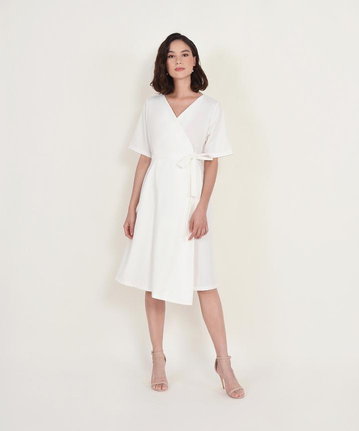 Viviane Wrap Midi - White