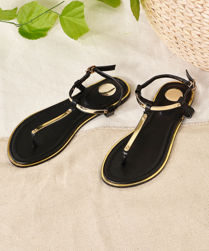 Mezzo Strap Sandals - Black