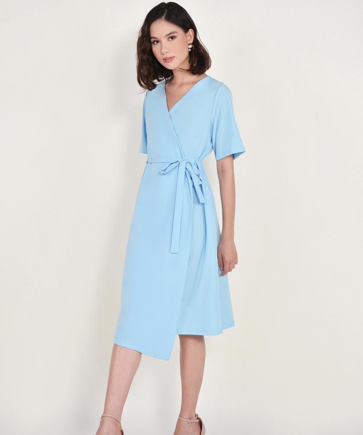 Viviane Wrap Midi - Sky Blue
