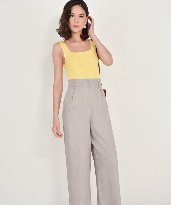 Tarragona Linen Trousers - Grey
