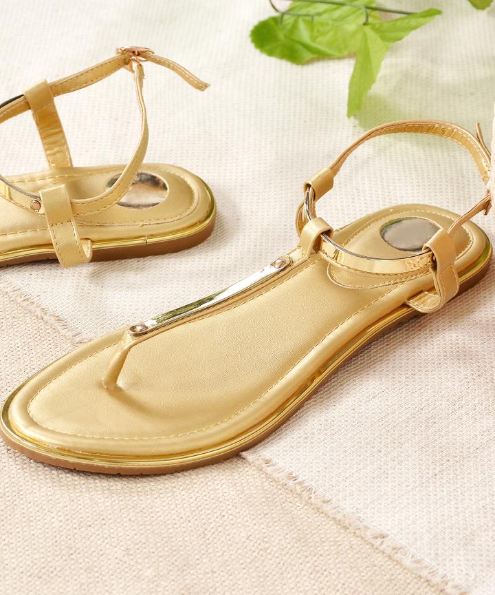 Mezzo Strap Sandals - Gold