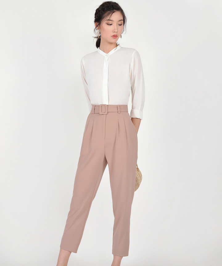 Meghan Belted Trousers - Tan