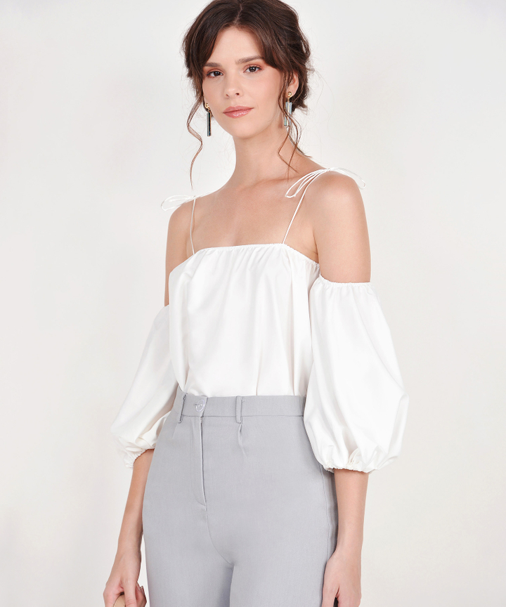 Amelie Off-Shoulder Top - White