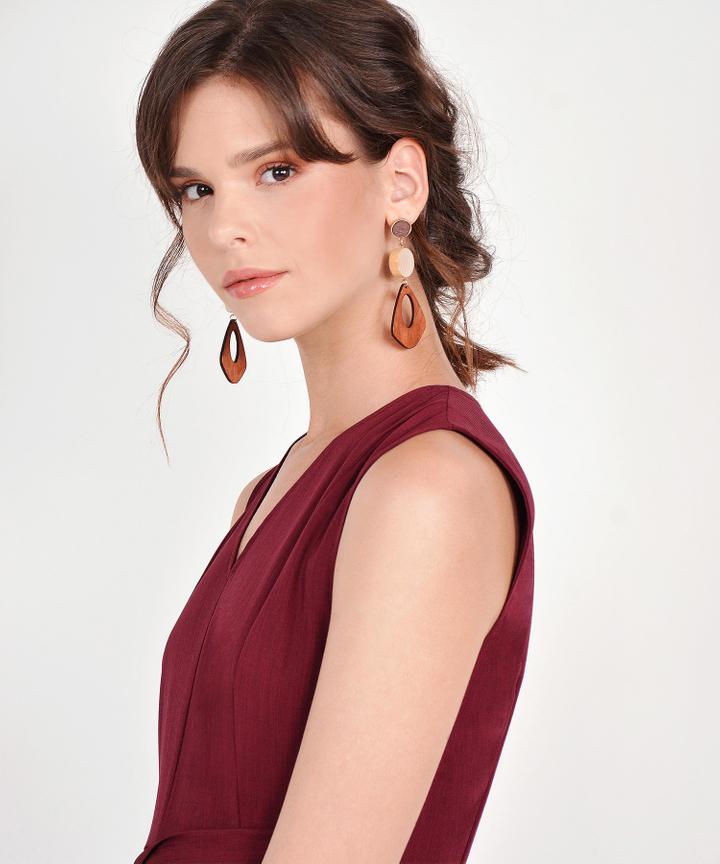 Halle Wooden Earrings