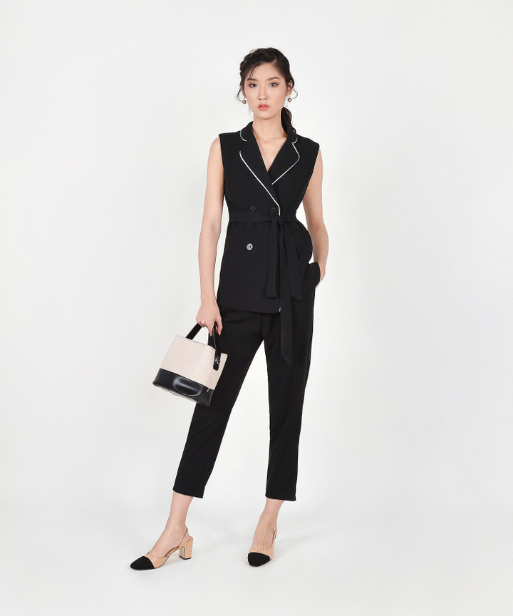 Meghan Belted Trousers - Black