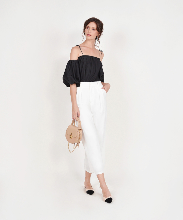 Amelie Off-Shoulder Top - Black