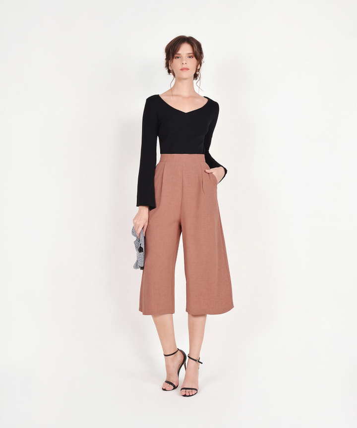 Ellery Flare-Sleeved Knit Top - Black
