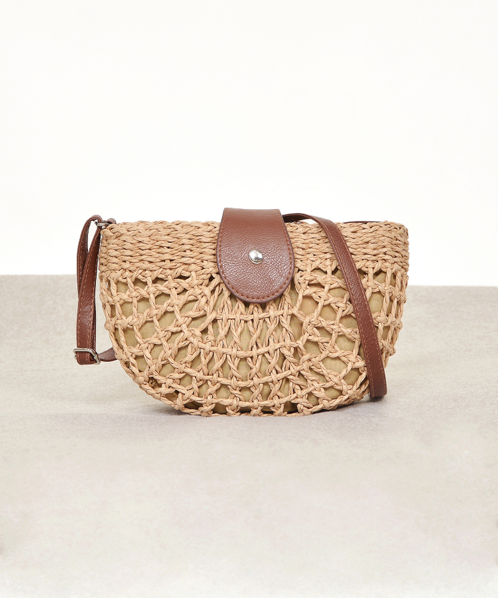 Rye Woven Semi-Circle Bag (Backorder)
