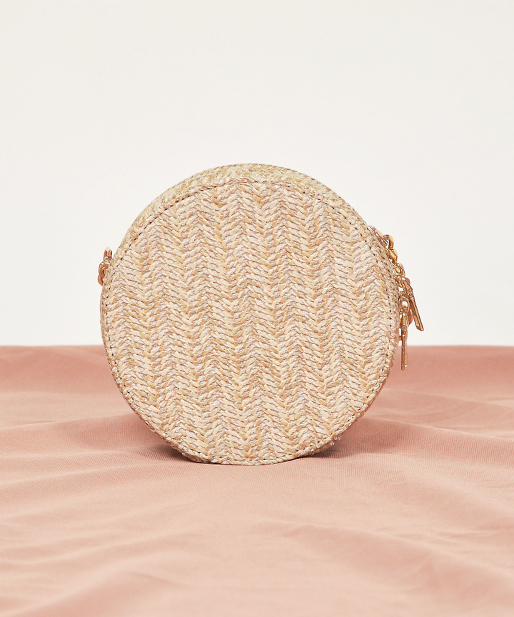Dawn Circle Woven Bag - Natural