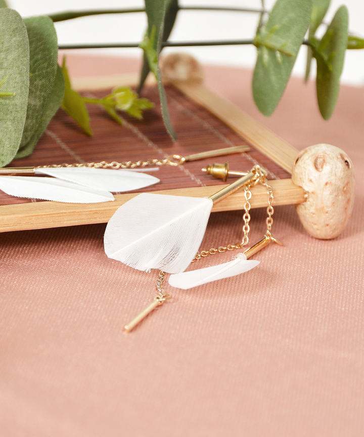 Aria Feather Earrings