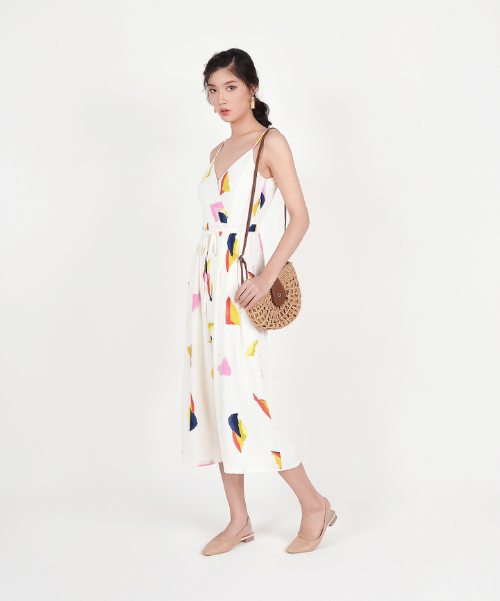 Joanna Printed Jumpsuit - Off-White