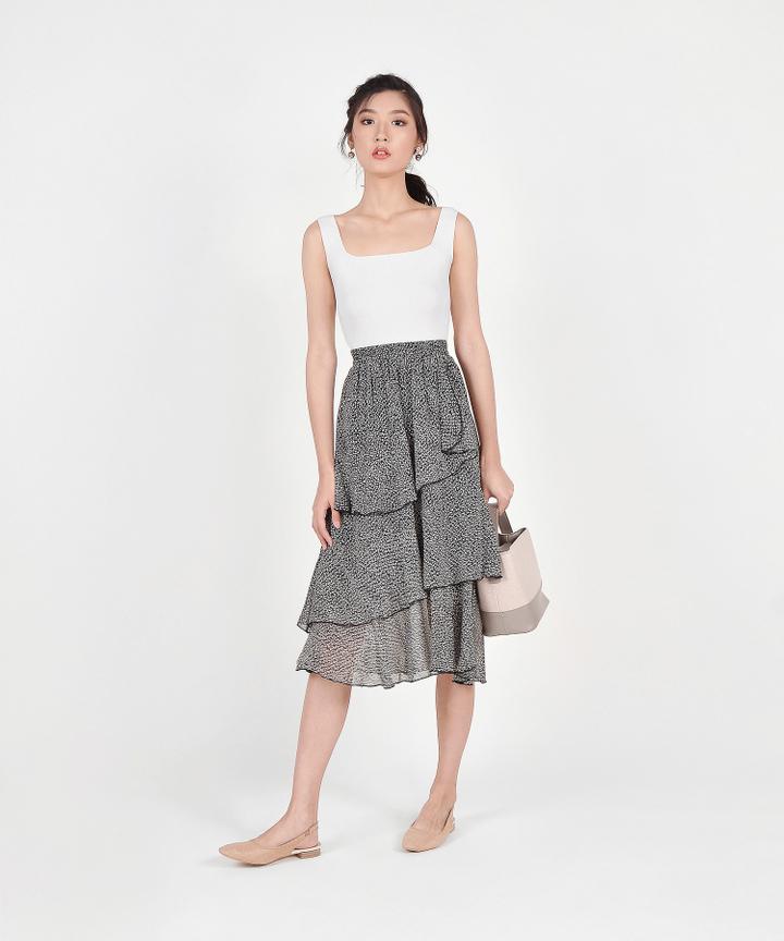 Aimee Knit Tank - White (Restock)