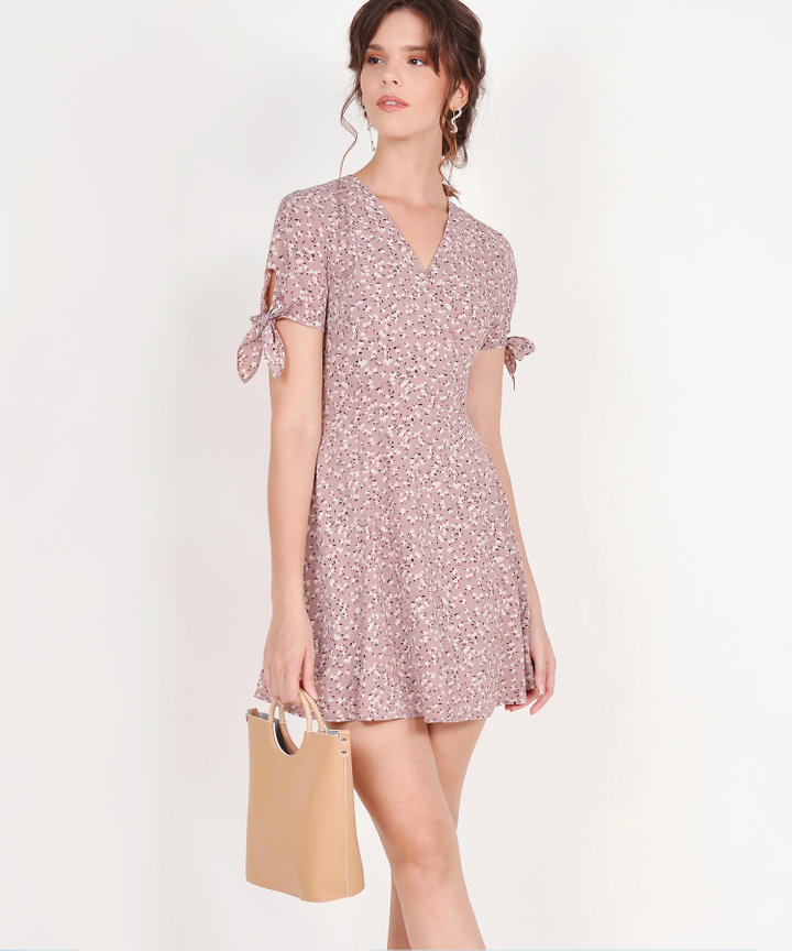Fleur Floral Dress - Blush
