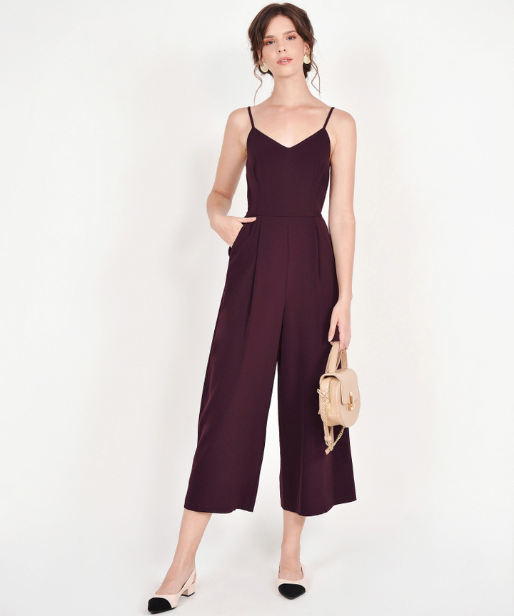 Ava Jumpsuit - Burgundy