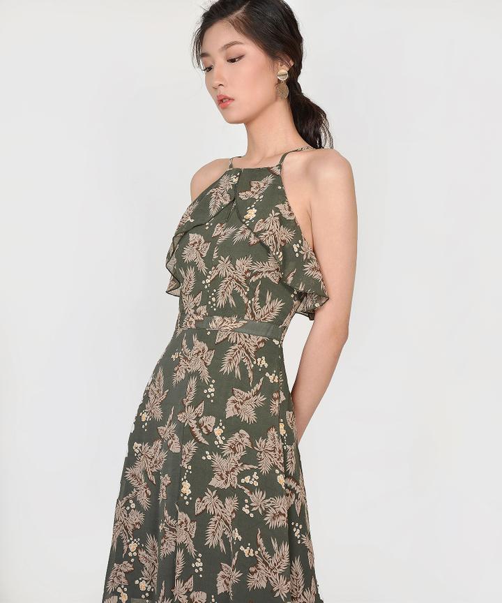 Jacinta Floral Maxi - Olive