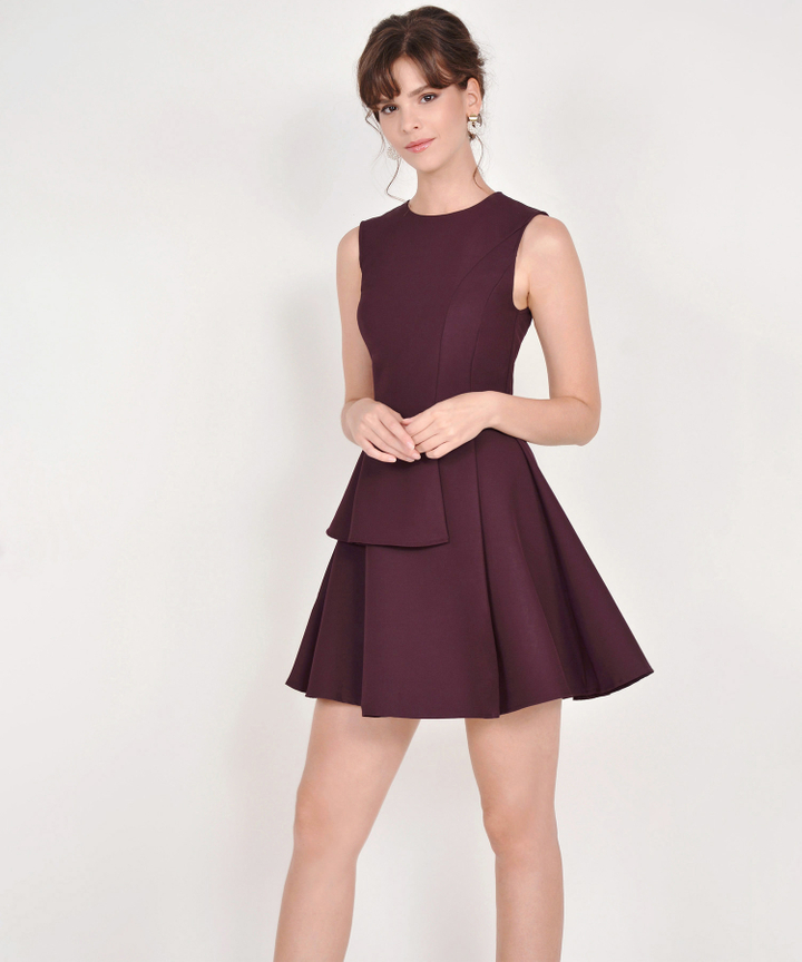 Guinevere Dress - Burgundy