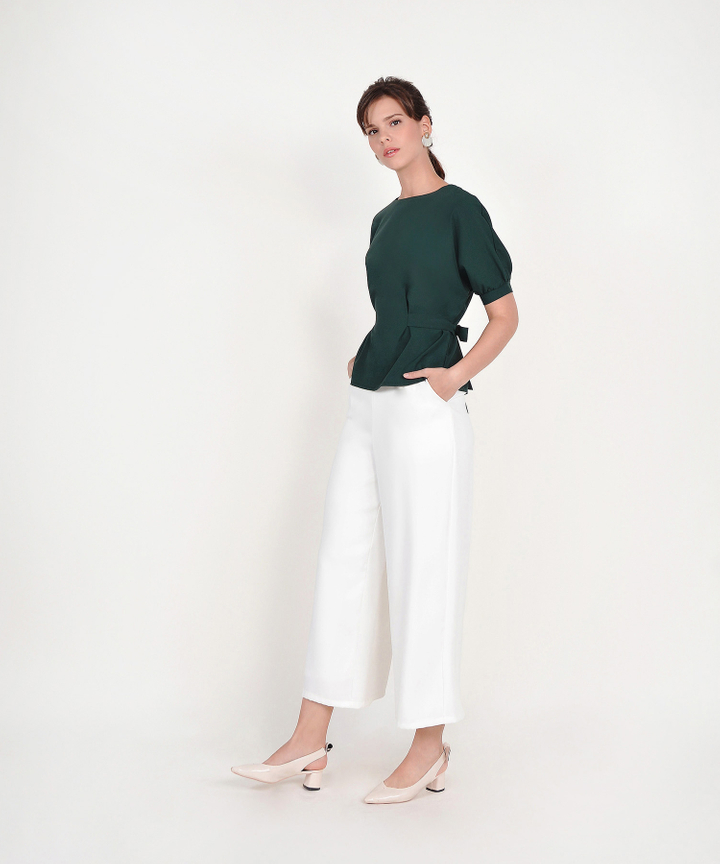 Emilia Blouse - Forest Green