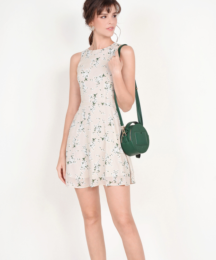Jayce Floral Dress - Pale Sand