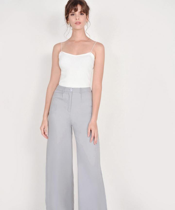 Althea Basic Knit Top - White