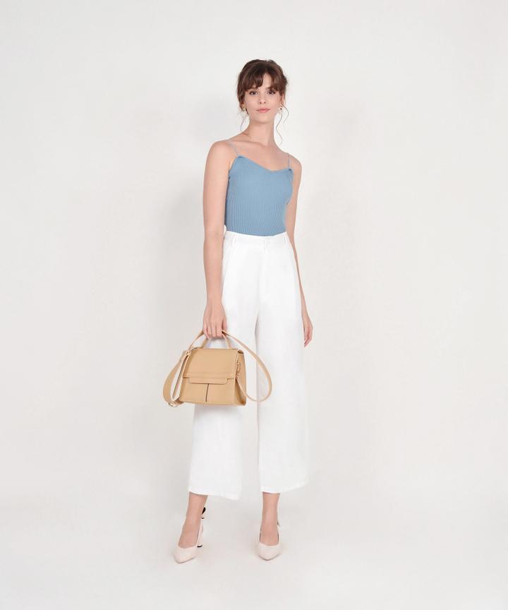 Althea Basic Knit Top - Mist Blue