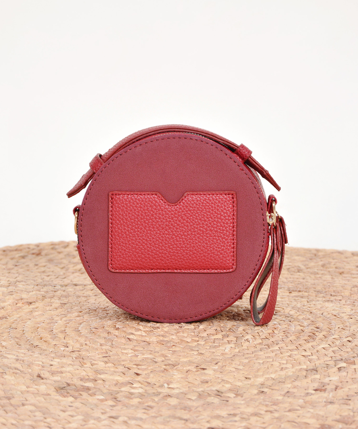 Solstice Circular Bag - Red