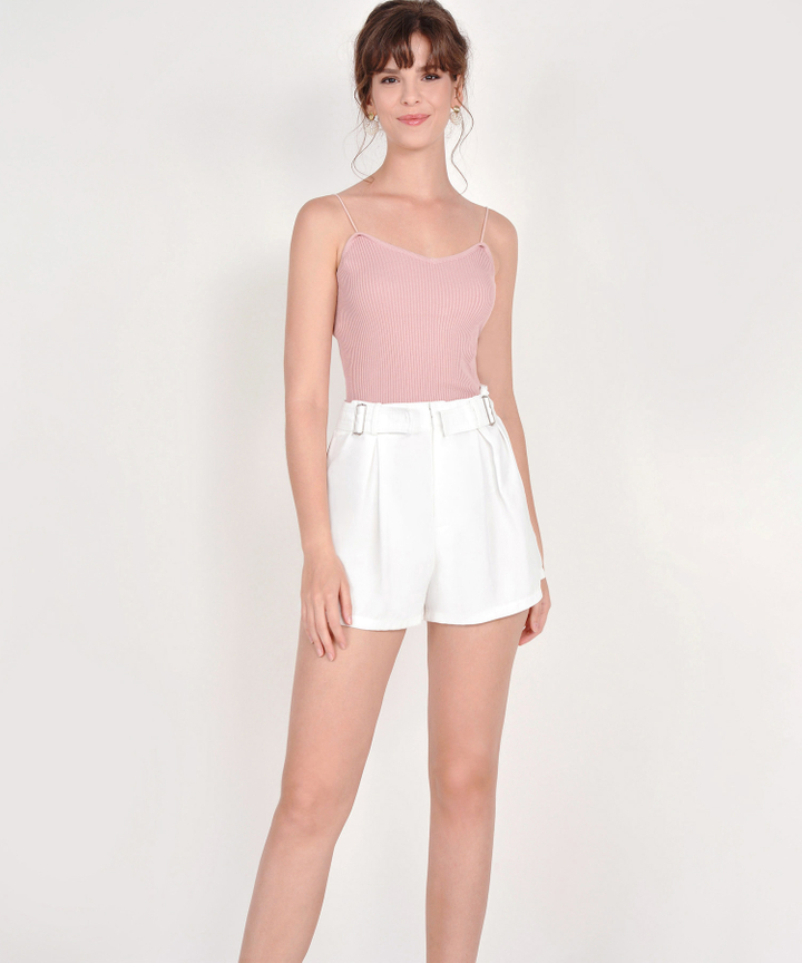 Althea Basic Knit Top - Blush