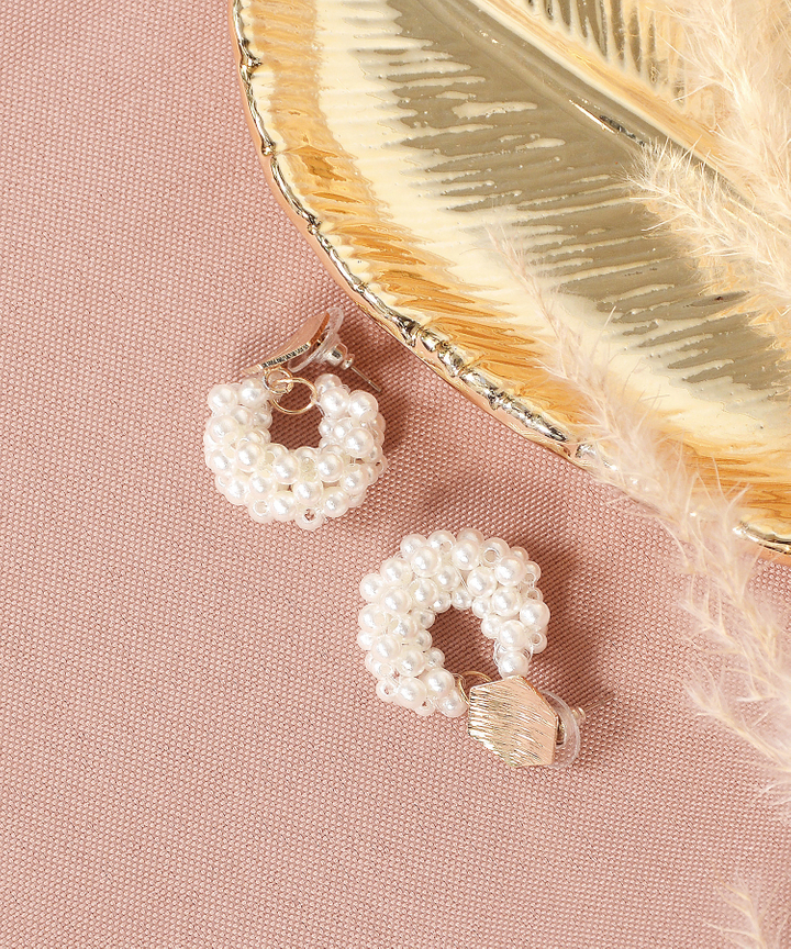 Vita Pearl Cluster Earrings