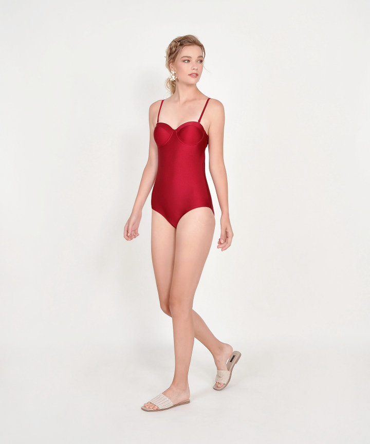 Canggu Classic Swimsuit - Scarlet