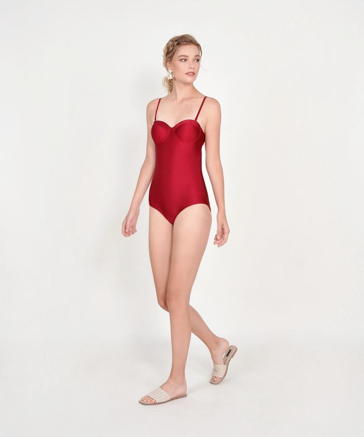 Canggu Classic Swimsuit - Scarlet
