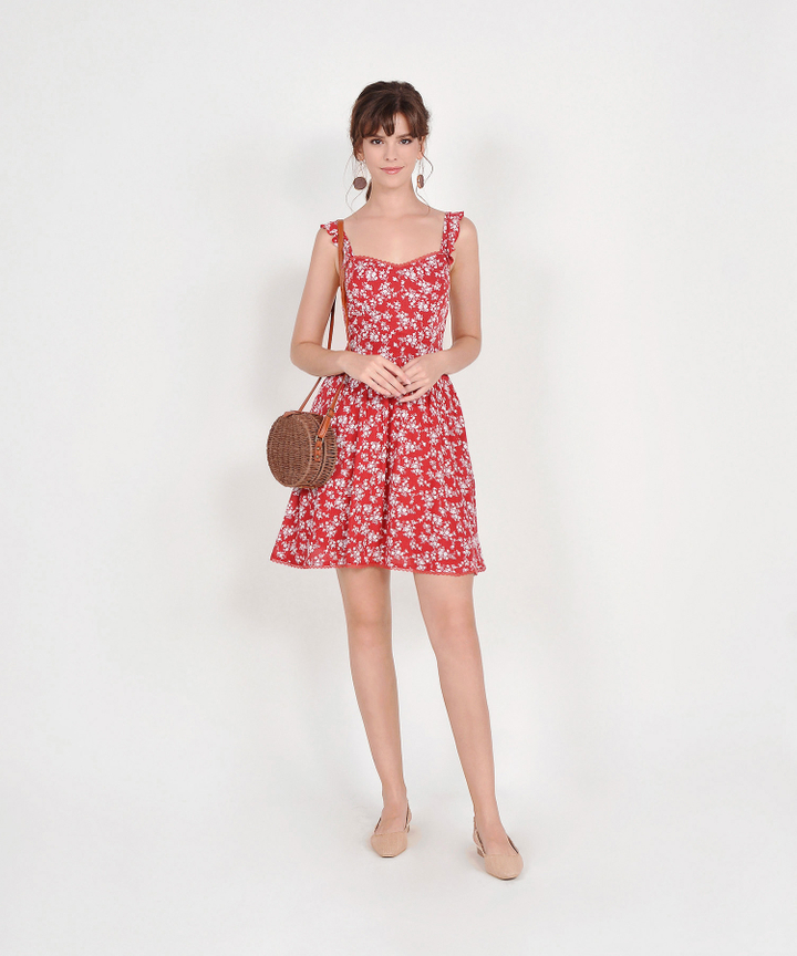Cruz Floral Dress - Scarlet