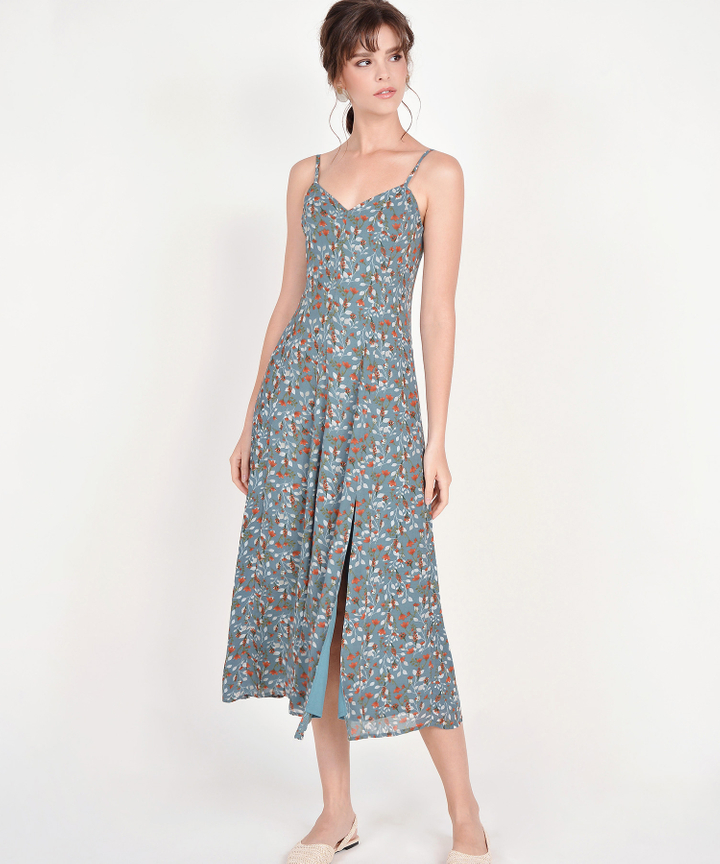 Anista Floral Maxi - Dust Turquoise
