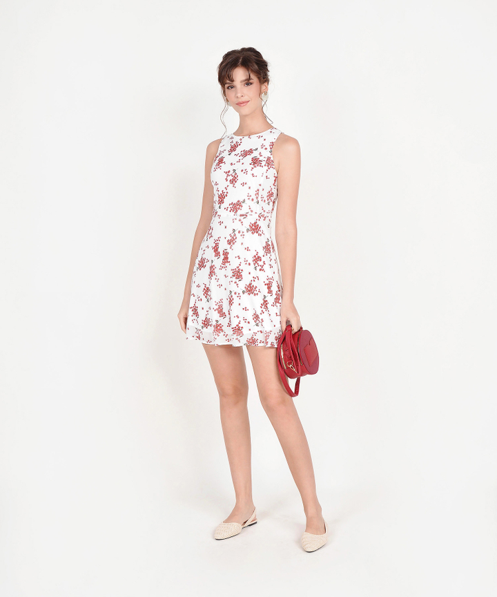 Jayce Floral Dress - White