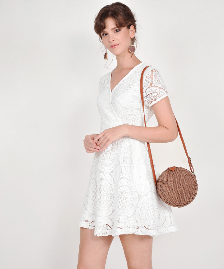 Julie Crochet Dress - White