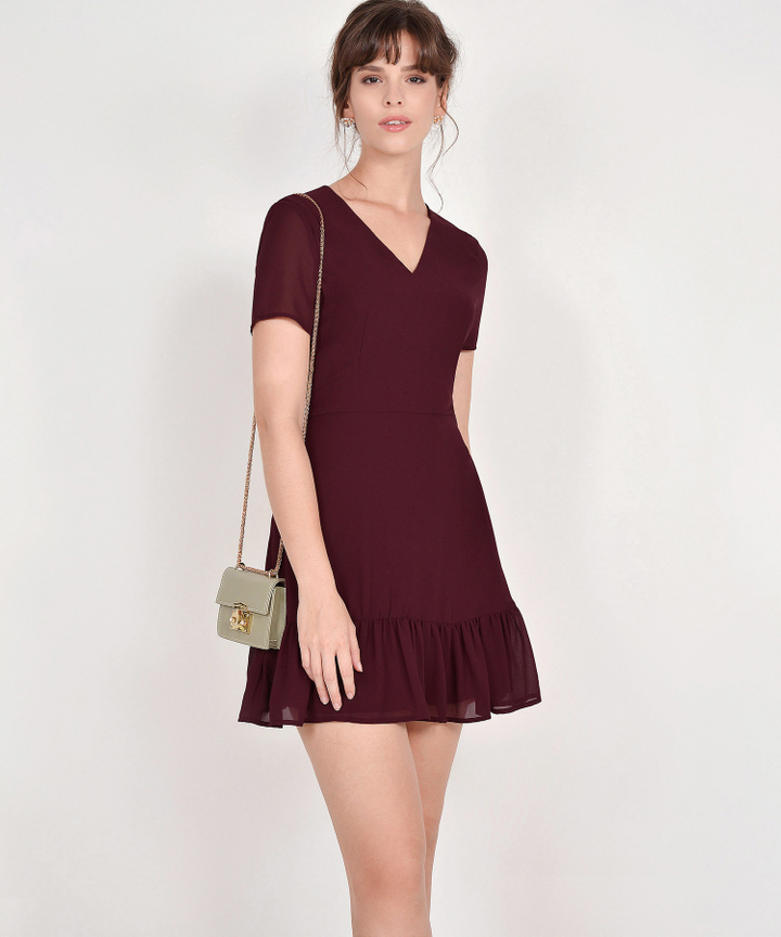 Sofia Dress - Burgundy